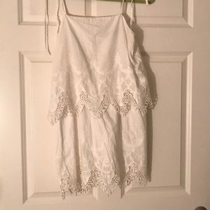 Honey punch vintage white dress